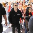 Joaquin Phoenix à la manifestation Fire Drill Friday dans les rues de Los Angeles, Californie, Etats-Unis, le 7 février 2020.