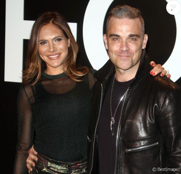 Naissance - Robbie Williams est papa pour la quatrième fois - Robbie Williams et sa femme Ayda Field au défilé Tom Ford Automne/Hiver pour femme à Los Angeles, le 20 février 2015