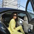 """Cindy Bruna assiste au défilé de mode """"BOSS"""" collection Automne-Hiver 2020-2021 lors de la fashion week à Milan, le 23 février 2020."""