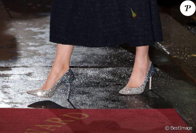"""Kate Middleton, duchesse de Cambridge, au théâtre Noël Coward pour assister à la représentation de la comédie musicale """"Dear Evan Hansen"""" à Londres, le 25 février 2020."""