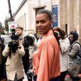 Tina Kunakey quitte le Palais de Tokyo à l'issue du défilé de mode Mugler, collection prêt-à-porter automne-hiver 2020/2021. Paris, le 26 février 2020. © Federico Pestellini / Panoramic / Bestimage