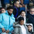 """Odell Beckham Jr. et Teyana Taylor dans les tribunes lors du match de Ligue 1 """"PSG - Dijon (4-0)"""" au Parc des Princes, le 29 février 2020. © Cyril Moreau/Bestimage"""