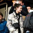 """Jamel Debbouze dans les tribunes lors du match de Ligue 1 """"PSG - Dijon (4-0)"""" au Parc des Princes, le 29 février 2020. © Cyril Moreau/Bestimage"""