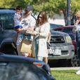 Exclusif -Justin Timberlake et sa femme Jessica Biel sont allés soutenir leur fils Silas Randall Timberlake à son entrainement de baseball à Los Angeles. Kimberly Biel, la mère de Jessica est de la partie! La petite famille rencontre T. Seymour avant de quitter le parc, le 29 octobre 2019