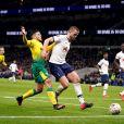 Erid Dier (en blanc) lors du match Tottenham Hotspur - Norwich City FC au Tottenham Hotspur Stadium. Londres, le 4 mars 2020.
