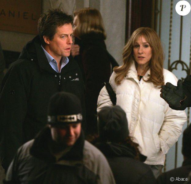 Sarah Jessica Parker et Hugh Grant sur le tournage de Did you hear about the Morgans à New York