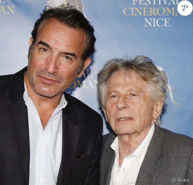 Jean Dujardin et Roman Polanski durant la soirée de clôture de la 1ère édition du Festival Ciné Roman à Nice le 26 octobre 2019. © JLPPA/ABACAPRESS.COM