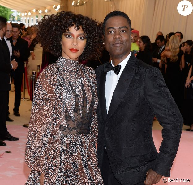 "Chris Rock et sa compagne Megalyn Echikunwoke à la 71ème édition du MET Gala (Met Ball, Costume Institute Benefit) sur le thème ""Camp: Notes on Fashion"" au Metropolitan Museum of Art à New York, le 6 mai 2019."