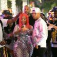 Nicki Minaj et son fiancé Kenneth Petty arrivent à la soirée de lancement de sa collaboration avec Fendi à Beverly Hills, le 15 octobre 2019.