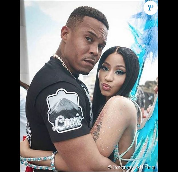 Nicki Minaj et son mari Kenneth Petty à Trinidad-et-Tobago. Février 2020.