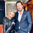 Madonna reçue par Grégory Lentz, associé du restaurant Lapérouse. Paris, le 10 mars 2020.