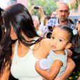 Kim Kardashian est allée assister avec ses enfants S.West, N. West et Chicago West à la messe dominicale de son mari K. West à New York, le 29 septembre 2019