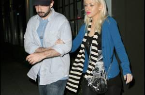 Christina Aguilera : du bleu, du rose, du zèbre et de la lingerie jaune... Elle a mis le paquet pour sa soirée en amoureux !