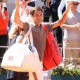 Roger Federer lors des internationaux de tennis de Roland Garros à Paris, France, le 2 juin 2019. © Jacovides-Moreau/Bestimage