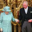 Le prince Charles, prince de Galles, la reine Elisabeth II d'Angleterre - Arrivée de la reine Elizabeth II et discours à l'ouverture officielle du Parlement à Londres le 19 décembre 2019.