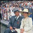 Victor Lanoux et Marie José Nat à Paris en 1985.