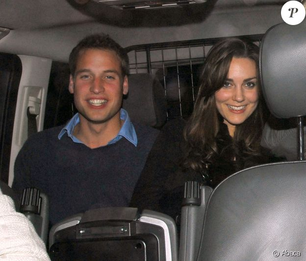 Le prince William et Kate Middleton en soirée à Londres en 2006.