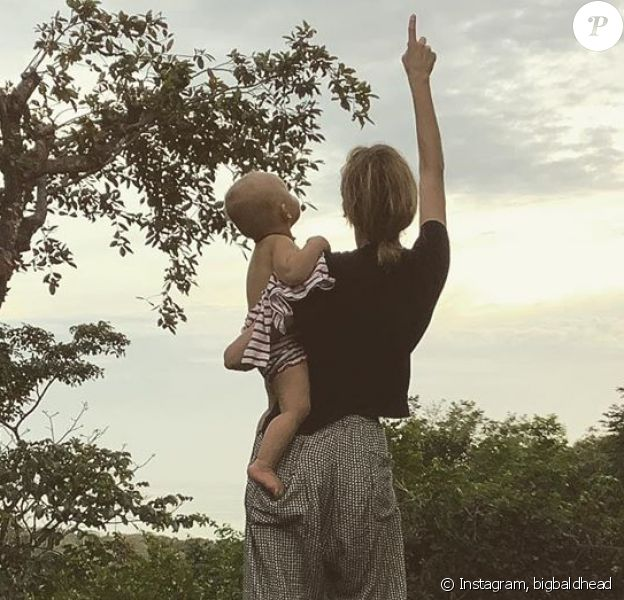 Diane Kruger et sa fille sur Instagram, le 1er janvier 2020.
