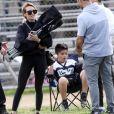 Exclusif - Hilary Duff et son ex-mari Mike Comrie assistent au match de football de leur fils Luca à Los Angeles 29 février 2020.