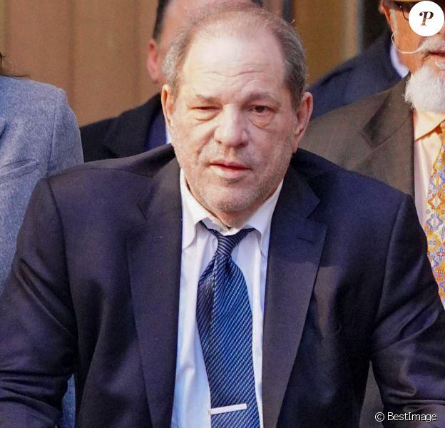 Harvey Weinstein à la sortie du tribunal à New York le 21 février 2020.