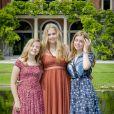 La princesse Ariane, la princesse Catharina-Amalia et la princesse Alexia des Pays-Bas chez elles dans le parc du palais Huis ten Bosch, à La Haye, le 19 juillet 2019.