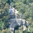 Exclusif - Photos aériennes montrant les travaux de construction en cours au manoir de George Clooney à Studio City le 18 février 2020.