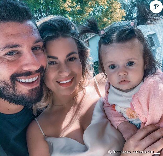 Carla Moreau avec Kevin Guegj et leur fille Ruby, Instagram, le 13 avril 2020