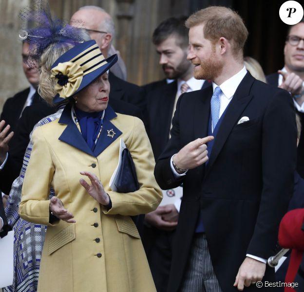 Le prince Edward, comte de Wessex, la princesse Anne, le prince harry - Mariage de Lady Gabriella Windsor avec Thomas Kingston dans la chapelle Saint-Georges du château de Windsor le 18 mai 2019.