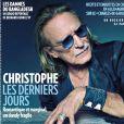 """Le magazine """"Paris Match"""" consacre sa couverture au chanteur Christophe, mort le 16 avril 2020. Numéro du 23 avril 2020."""