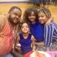 Le rappeur Fred Tha Godson, son épouse LeeAnn Jemmott et leurs deux filles Sophia et Sadie. Photo publiée le 8 février 2020.