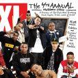 Fred The Godson (au tableau, à droite) sur la couverture du numéro spécial 2011's Freshman Class du magazine XXL.