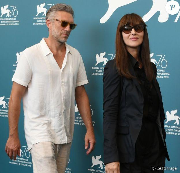 """Vincent Cassel, Monica Bellucci - Photocall du film """"Irreversible"""" en verison Integrale lors du 76ème festival du film de venise, la Mostra à Venise le 31 Août 2019."""