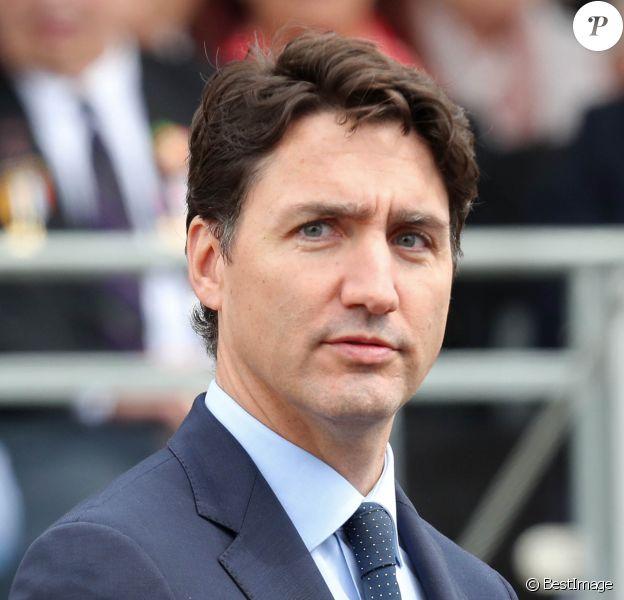 Le premier ministre canadien Justin Trudeau - Cérémonie à Portsmouth pour le 75ème anniversaire du débarquement en Normandie pendant la Seconde Guerre Mondiale. Le 5 juin 2019