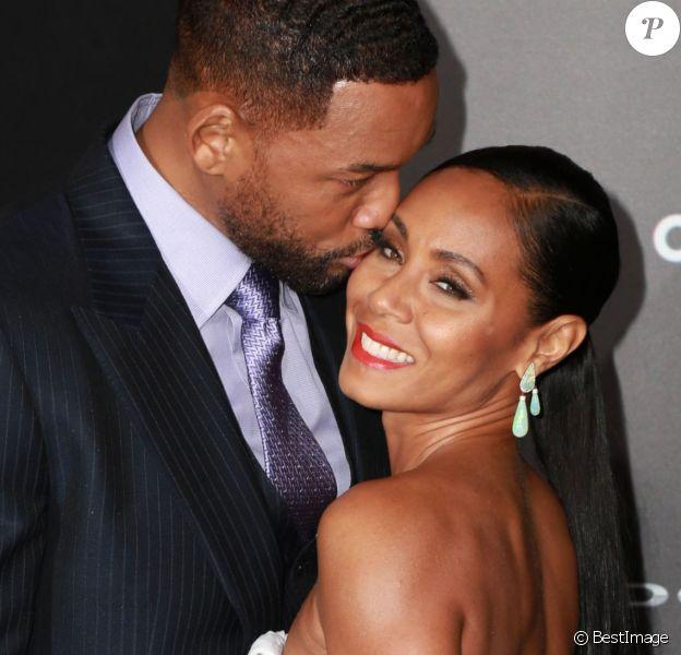 "Will Smith et sa femme Jada Pinkett Smith - Avant-première du film ""Focus"" à Hollywood, le 24 février 2015."