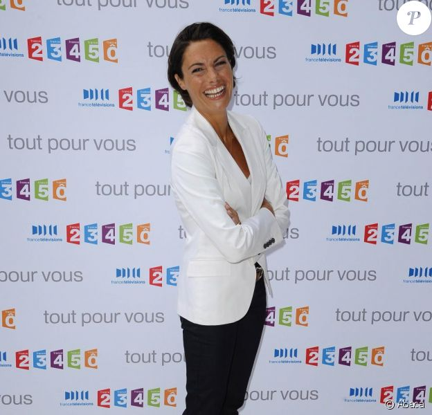 Alessandra Sublet à la conférence de presse de rentrée de France Télévisions. 27/08/09