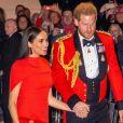 Le prince Harry, duc de Sussex, et Meghan Markle, duchesse de Sussex assistent au festival de musique de Mountbatten au Royal Albert Hall de Londres, Royaume Uni, le 7 mars 2020.