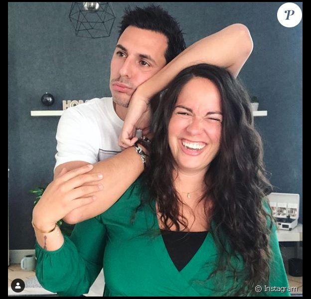 """Marlène (""""Mariés au premier regard"""" 2019) et son compagnon Sébastien. Photo postée sur Instagram en 2020."""