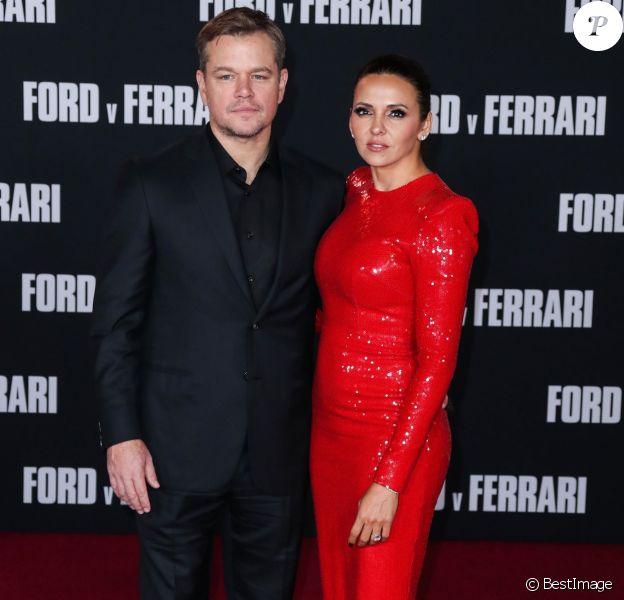 """Matt Damon, Luciana Damon - Les célébrités assistent à la première de """"Ford v Ferrari"""" à Los Angeles, le 4 novembre 2019"""