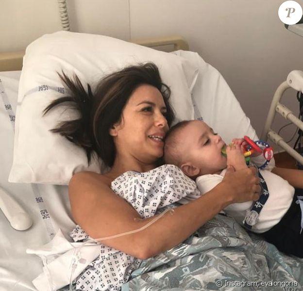 Eva Longoria hospitalisée à Cannes, en mai 2019. Photo Instagram, mai 2020