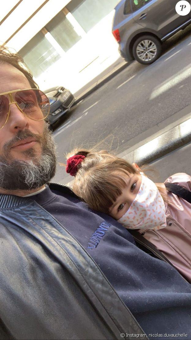 Nicolas Duvauchelle et sa fille sur Instragram, le 14 mai 2020.