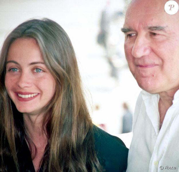 Emmanuelle Béart et Michel Piccoli au Festival de Cannes 1991.