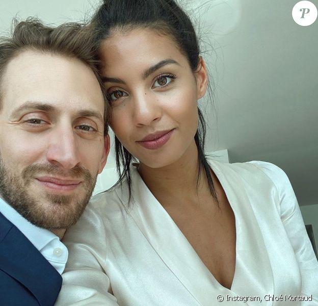 Chloé Mortaud et son fiancé Dean David Neiger. Mars 2020.
