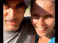 Sylvie Tellier pimpante avec son mari Laurent, épuisé par une sortie éprouvante