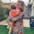 Sylvie Tellier avec son fils Roméo, le 17 mai 2020, sur Instagram