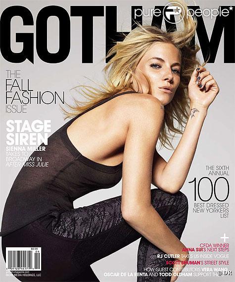Sienna Miller en couverture du magazine Gotham