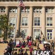 Des moines (Iowa) - Manifestation dans tous les États-Unis et vague de colère suite à la mort de George Floyd, mort lors d'une arrestation par 4 policiers blancs à Minneapolis le 29 mai 2020. © Jack Kurtz/ZUMA Wire