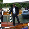 Nicolas Cage arrivant à l'hôtel Excelsior au cours du Festival de Venise le 3 septembre 2009