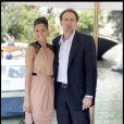 Eva Mendes et Nicolas Cage arrivant à l'hôtel Excelsior au cours du Festival de Venise le 3 septembre 2009