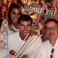 Karine Ferri et son mari Yohann Gourcuff passent de belles vacances à Cannes. Août 2019.