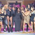 The Sisters Sledge, Grace Jones, The Pointer Sisters, Gloria Gaynor et Shaka Kahn en concert lors du défilé Etam à Paris en 2012.